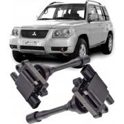 Kit 2 Bobina de Ignicao Pajero Tr4 Io 1.8 e 2.0 16V Gasolina 2002 a 2006 Galant