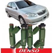 Kit 4 Bico Injetor Corolla 1.8 16v De 03 A 08 Original Denso - 23250-22040
