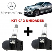 Kit com 02 Sensor de Pressao do Pneu TPMS Mercedes C180 C250 ML320 GLK SLK AMG