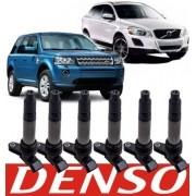 Kit Com 6 Bobinas De Ignição Volvo Xc60 Xc70 Xc90 S60 S80 V70 T5 E T6 Nova Original Denso