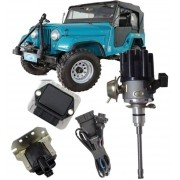 Kit de Ignicao Jeep 6cc F75 Rural Carburado Sensor Hall Completo