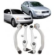 Kit de suspencao Com 04 Bracos Oscilantes Inferiores Passat Audi A4 e A6 de 1995 a 2005