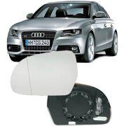 Lente do Espelho Retrovisor Audi A4 A5 A6 Q3 e Q5 de 2008 à 2015 - Ld Esquerdo