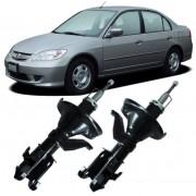 Par de Amortecedor Dianteiro Honda Civic 1.7 16v de 2003 a 2006 17mm