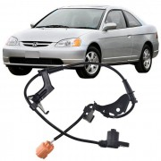 Sensor Freio Abs Honda Civic 1.7 de 2001 a 2006 Dianteiro Esquerdo
