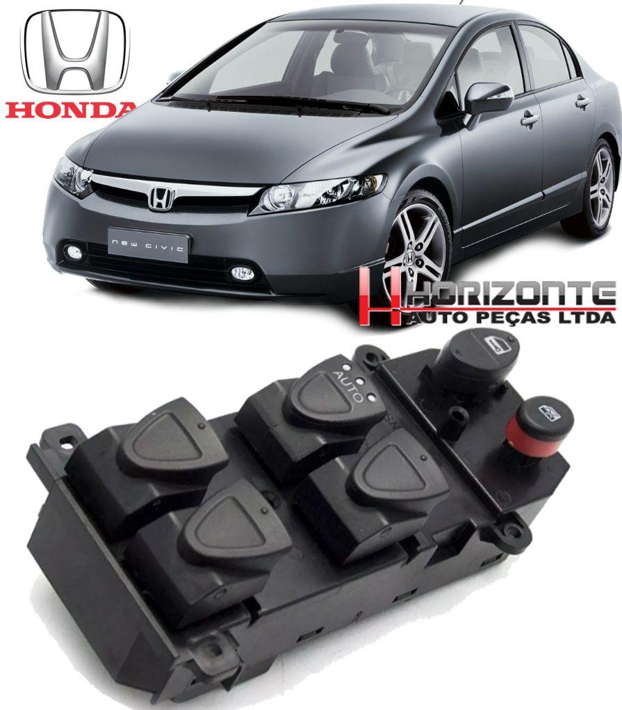 Botao Interruptor Vidro Eletrico Honda New Civic 2006 a 2012