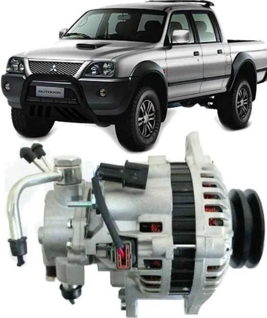 Alternador L200 Gls E Sport Motor 2.5 Diesel Hpe 90 Amperes De 2000 À 2013