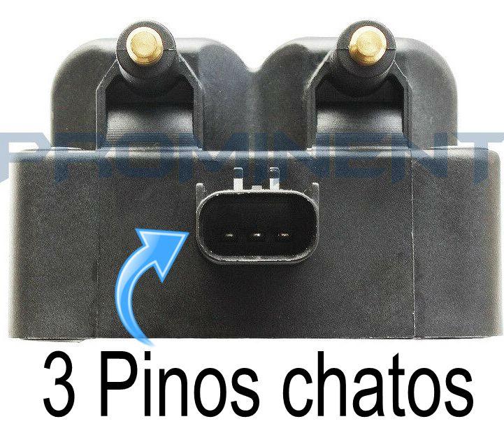 Bobina de Ignição PT Cruiser Neon Caravan 2.4 e 2.0 - 3 Pinos Chatos