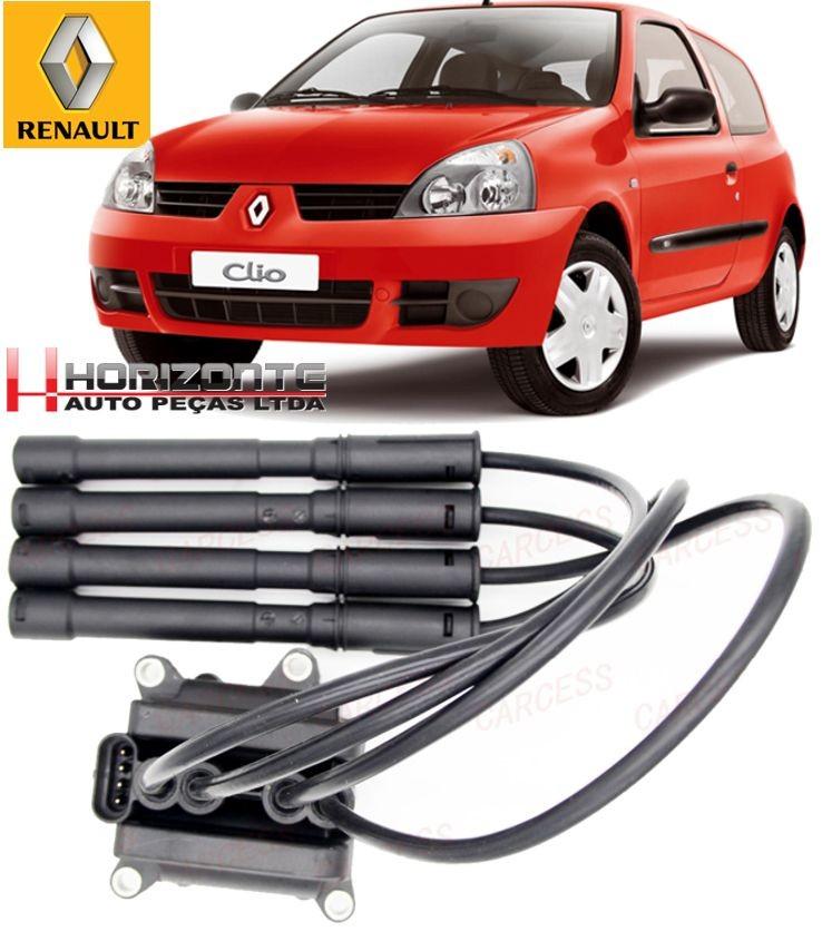 Bobina de Ignicao Renault Clio Twingo Kangoo 1.0 16v Flex Apos 2004