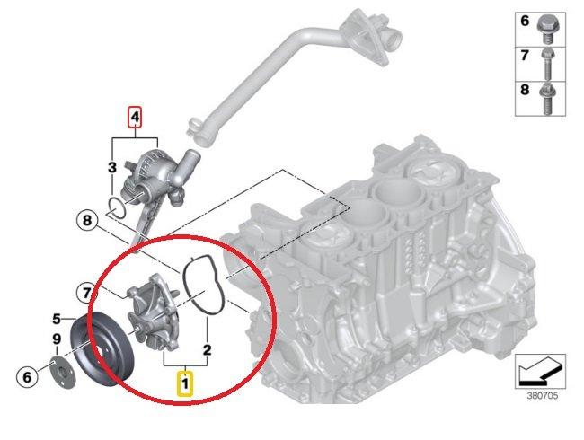 Bomba Agua Peugeot Mini Cooper 1.6 Thp Turbo Motor N14 de 2006 a 2010