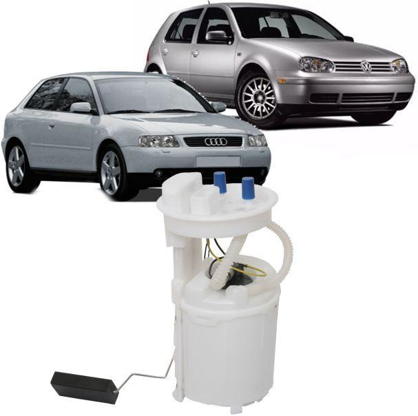 Bomba de Combustivel Golf Audi A3 Passat Polo 1999 a 2006 Sensor de nivel e tampa