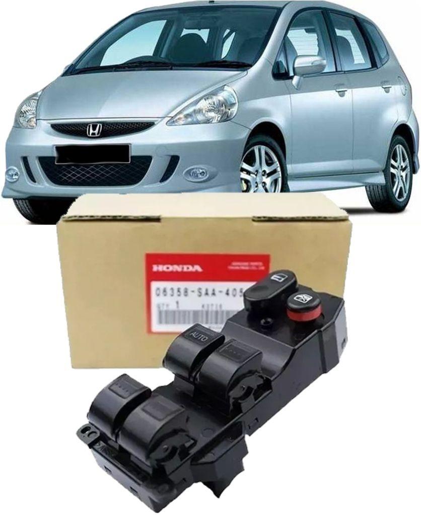 Botao Interruptor Vidro Eletrico e Travas Honda Fit 2003 ate 2008 Original