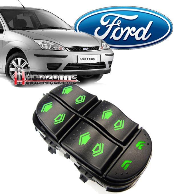 Botao Interruptor Vidro Eletrico Ford Focus Apos 1999 a 2008 Quadruplo