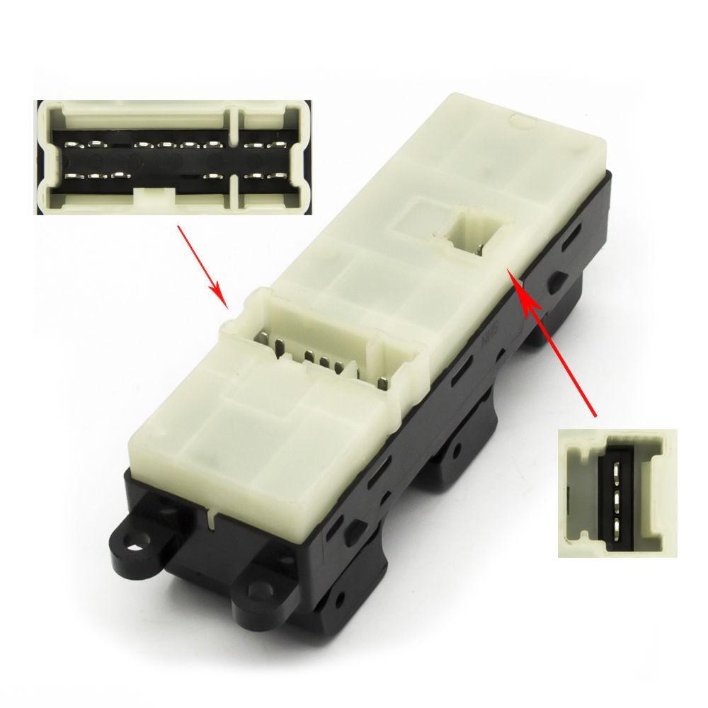 Botao Interruptor Vidro Eletrico Frontier 2.5 Diesel de 2008 a 2015 Com 2 Conectores