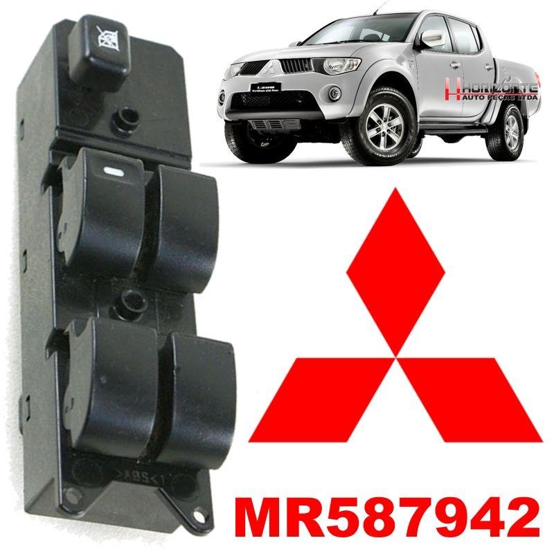 Botao Interruptor Vidro Eletrico L200 Triton Pajero Dakar - MR587942 Importado