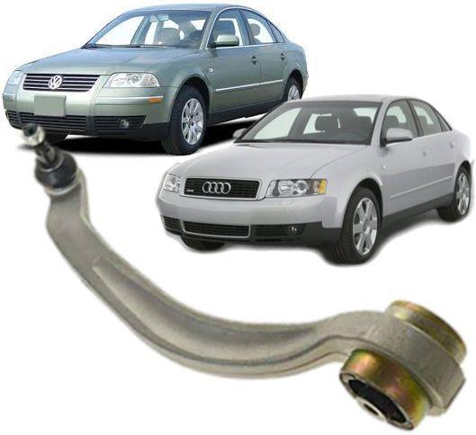 Braco Oscilante de suspensao Passat  Audi A4 e  A6 Inferior curvo Direito Passageiro
