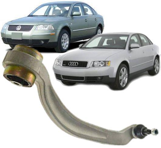 Braco Oscilante de suspensao Passat  Audi A4 e  A6 Inferior curvo Esquerdo Motorista