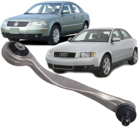Braco Oscilante de suspensao Passat  Audi A4 e  A6 Superior curvo Esquerdo Motorista