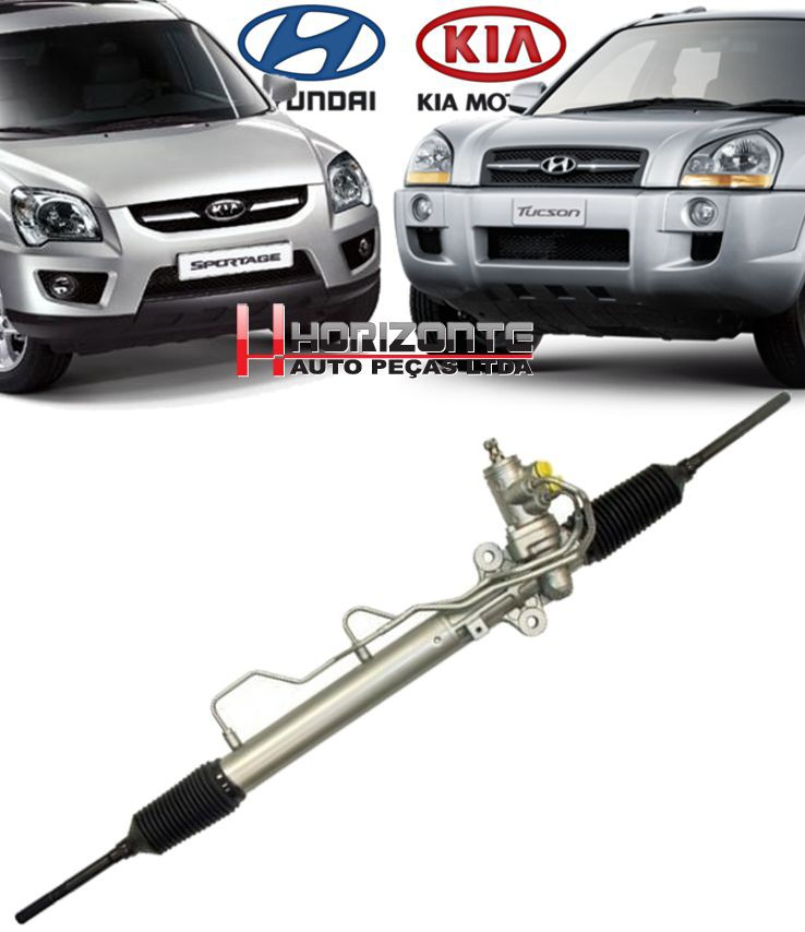 Caixa De Direcao Hidraulica Tucson 2.0 16V e 2.7 6cc Sportage 57700-1f810