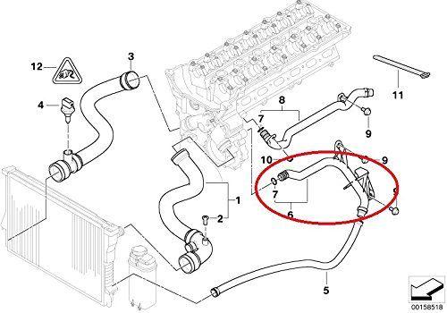 Cano de saida de agua motor Bmw X5 X3 325i 330i 528i 525i 2.5 e 3.0 6cc