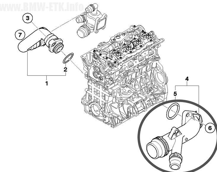 Cano Saida Agua Motor Bmw 120i 116i 118i 320i X1 X3 2.0 16V - 11537505055