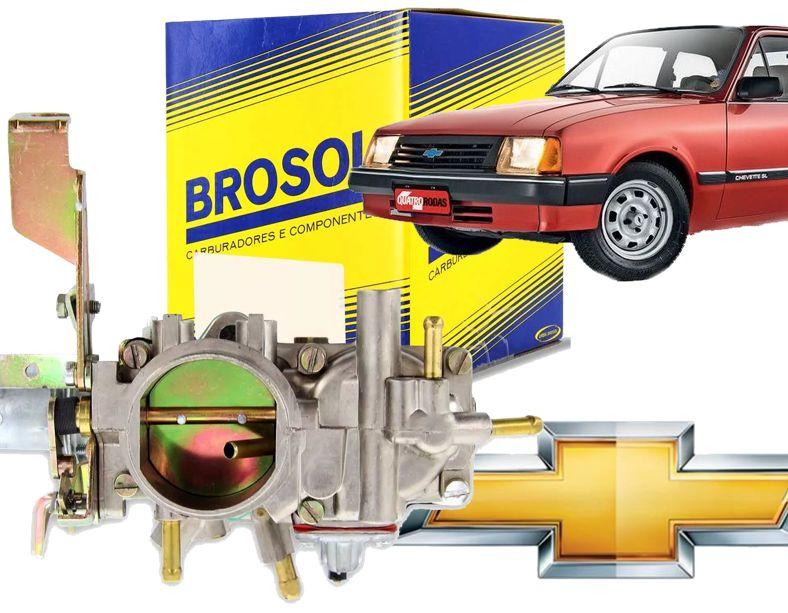 Carburador Chevette Chevy Marajo 1.6 Alcool Simples Solex Brosol S/ Roldan