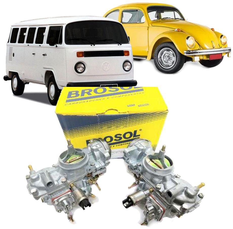 Carburador Fusca Brasilia Kombi 1600 à Gasolina Solex BROSOL - Par
