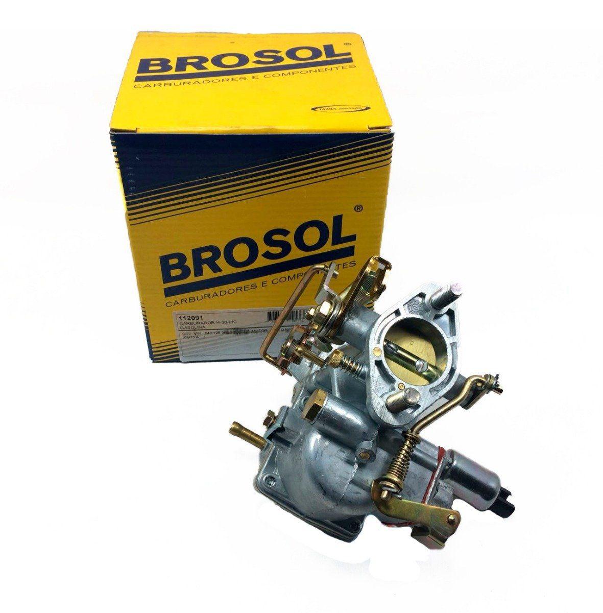 Carburador Fusca Brasilia Kombi Puma Buggy TL 1300 30 Pic Solex Brosol