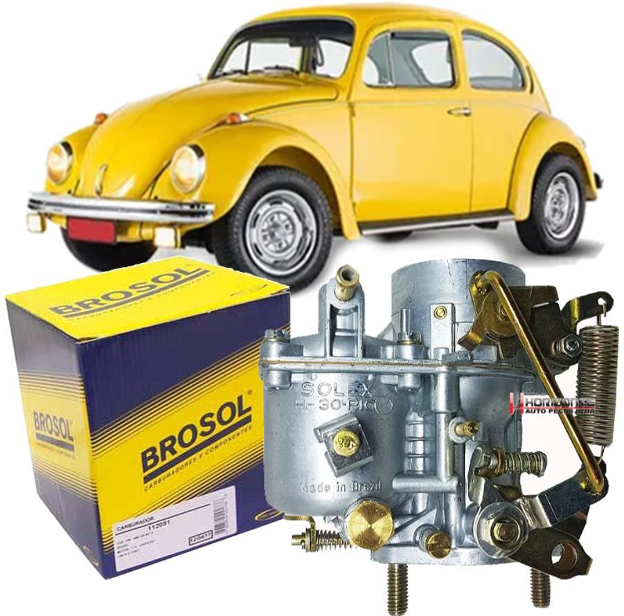 Carburador Fusca Brasilia Kombi Puma Buggy TL 1300 30 Pic Solex Brosol S/ Agulha