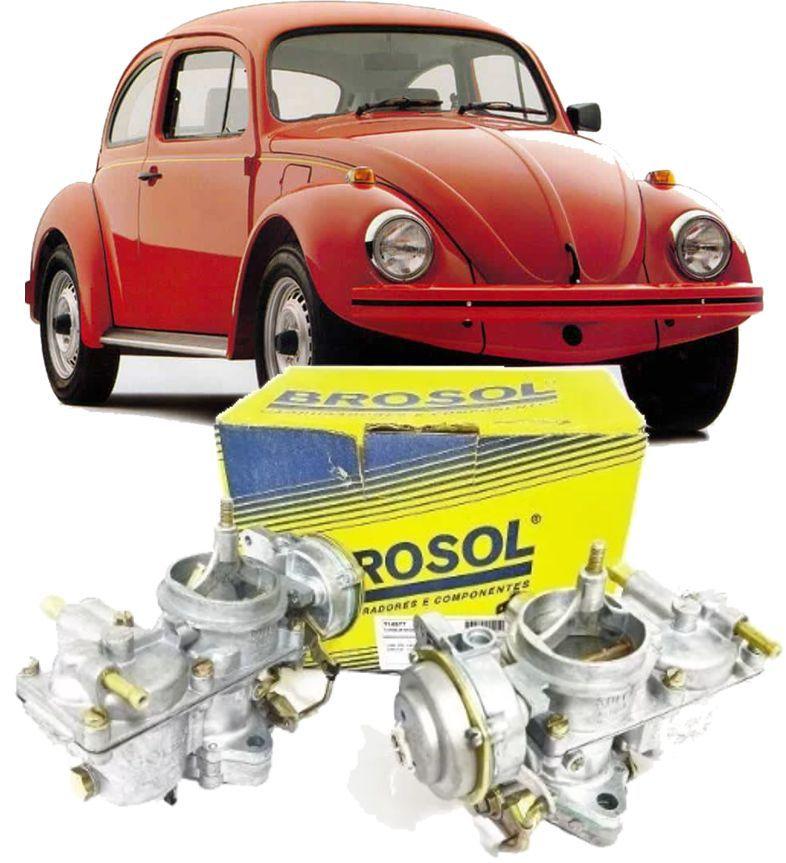 Carburador Fusca Itamar 1600 à Gasolina de 1993 à 1996 Solex BROSOL - Par