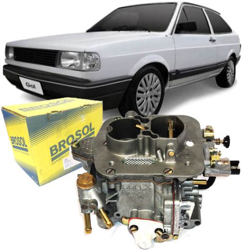 Carburador Gol 1.0 1000 Motor CHT a Gasolina Original da Solex Brosol