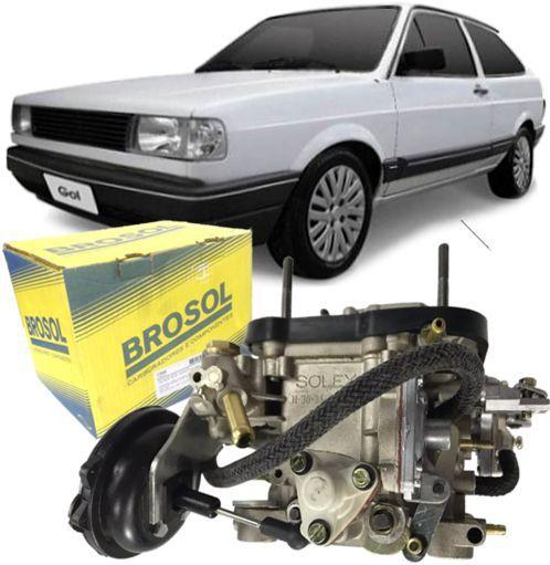 Carburador Gol Parati Saveiro Voyage BLFA CHT 1.6 de 1989 à 1995 à Alcool Solex Brosol