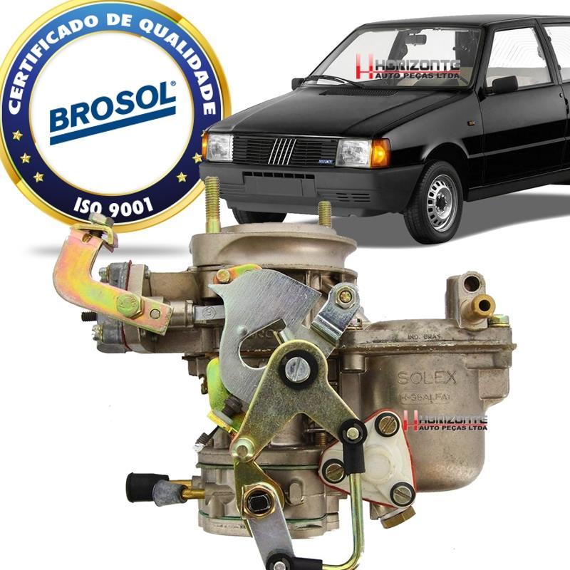Carburador Uno Premio 147 Oggi 1.3 Solex H35 Alfa1 Alcool Solex BROSOL 88/