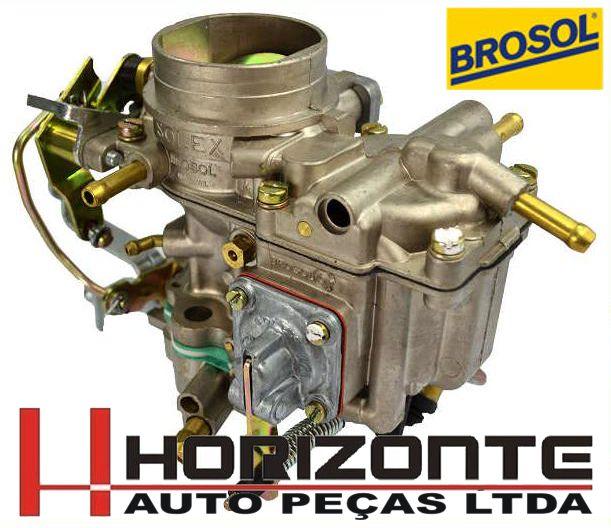 Carburador Voyage 1.5 e Passat LS 1.5 Solex simples H35 PDSI a Alcool Original Solex Broso