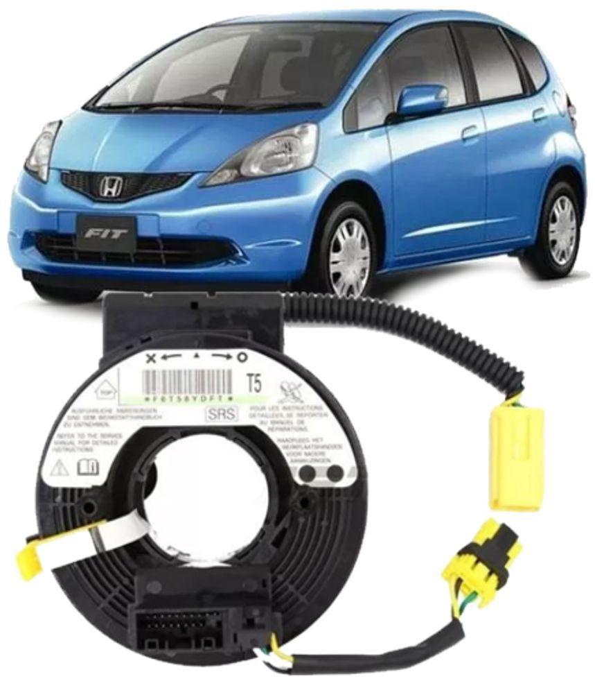 Cinta Airbag Hard Disc Honda Fit e City 1.4 e 1.5 de 2009 à 2014 Com Controle Som Volante