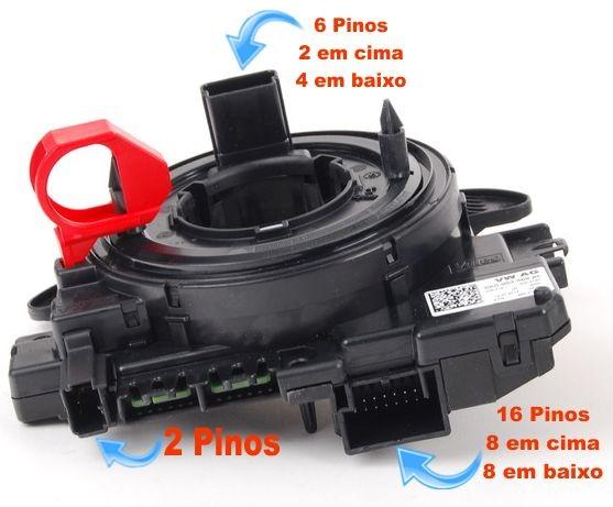 Cinta Airbag Hard Disc Jetta 2.0 Comfortline 2011 a 2015 Sem Controle De Som 5k0953569AE