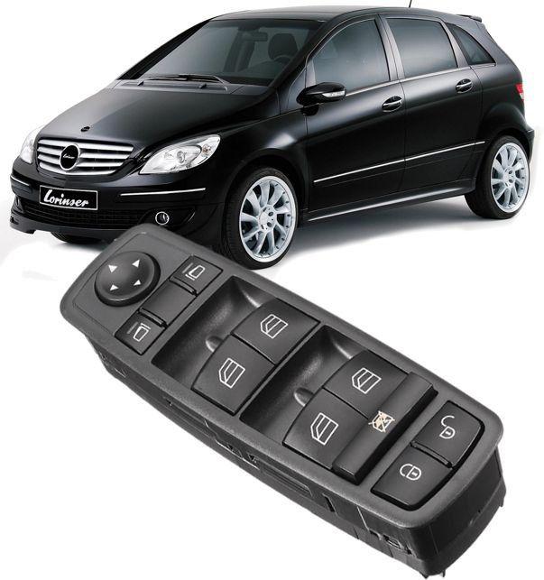 Comando Botao Vidro Eletrico Mercedes B170 B180 B200 de 2005 a 2012 sem Rebatimento