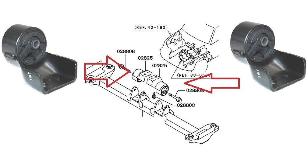 Coxim Cambio Manual Pajero Tr4 2.0 16v Lado Esquerdo - Mr510079