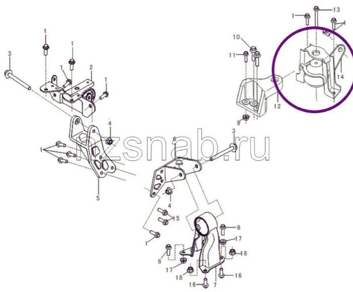 Coxim Do Motor Dianteiro Direito Lifan 620 1.6 16v de 2010 à 2013 - Original