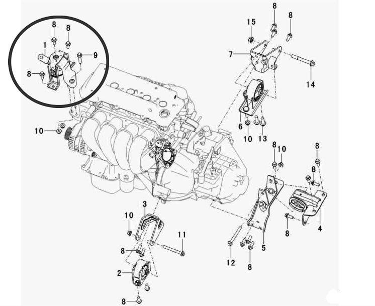 Coxim do Motor Superior Direito Lifan X60 1.8 16V Vvt de 2013 À 2020