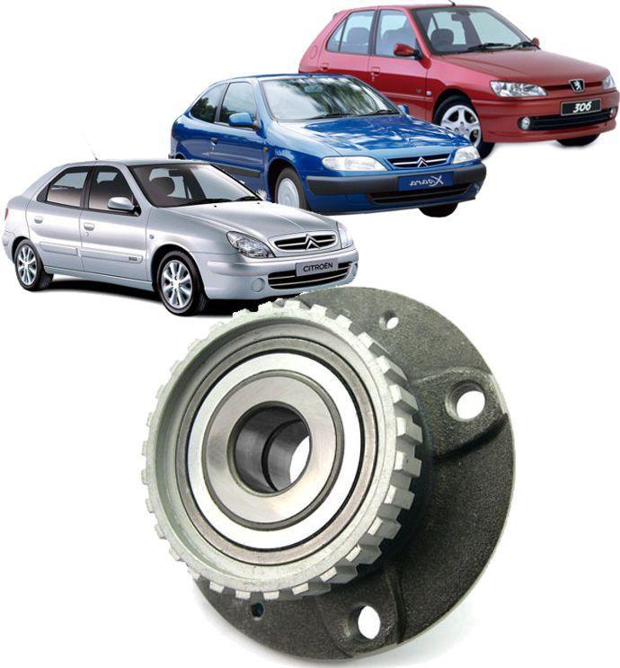 Cubo De Roda com Rolamento Traseiro Citroen Xsara E Zx Peugeot 205 E 306 C/abs