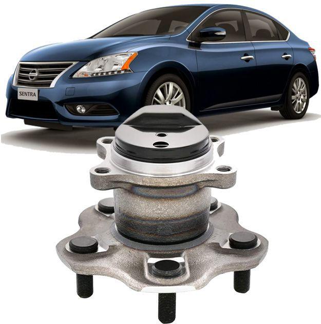 Cubo de Roda Com Rolamento Traseiro Nissan Sentra 2.0 16V 2014 2015 e 2016 5 Furos