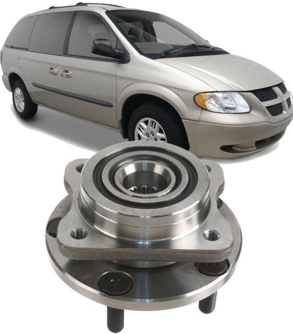 Cubo de Roda Dianteira Com Rolamento Chrysler Grand Caravan 3.3 e 2.4 de 1995 a 2007 Aro 15 e 16