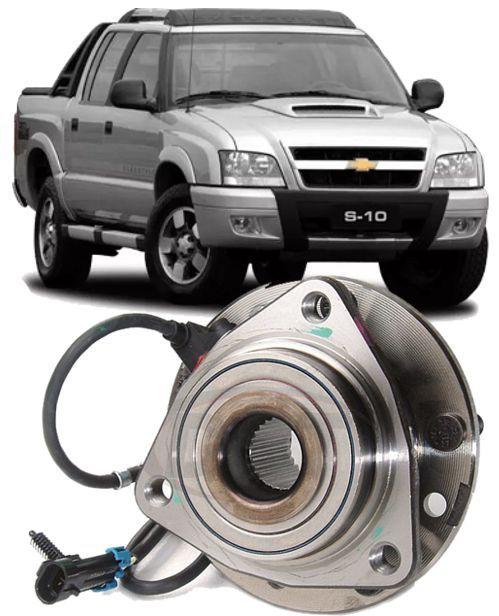 Cubo de roda dianteiro com rolamento forjado Blazer e S10 de 1995 à 2011 Com freio ABS