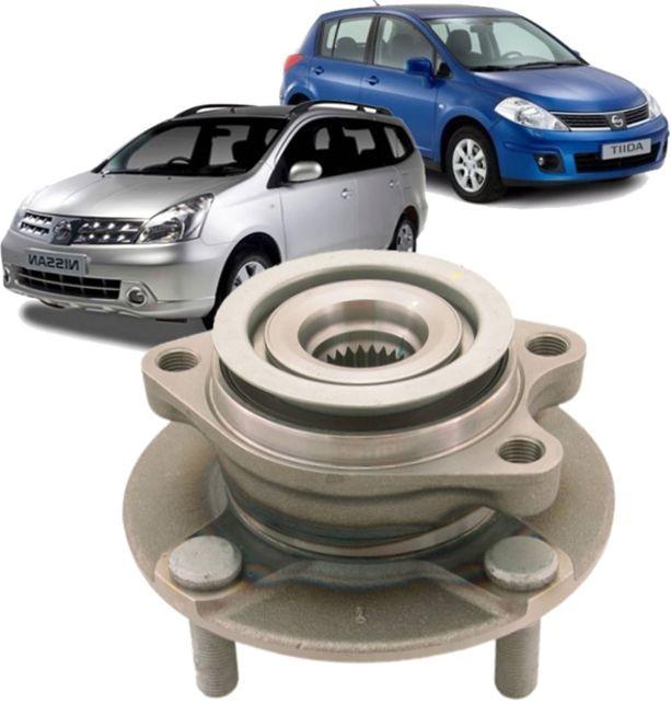 Cubo De Roda Dianteiro Com Rolamento Nissan Tiida E Livina De 2007 À 2015 Com Abs