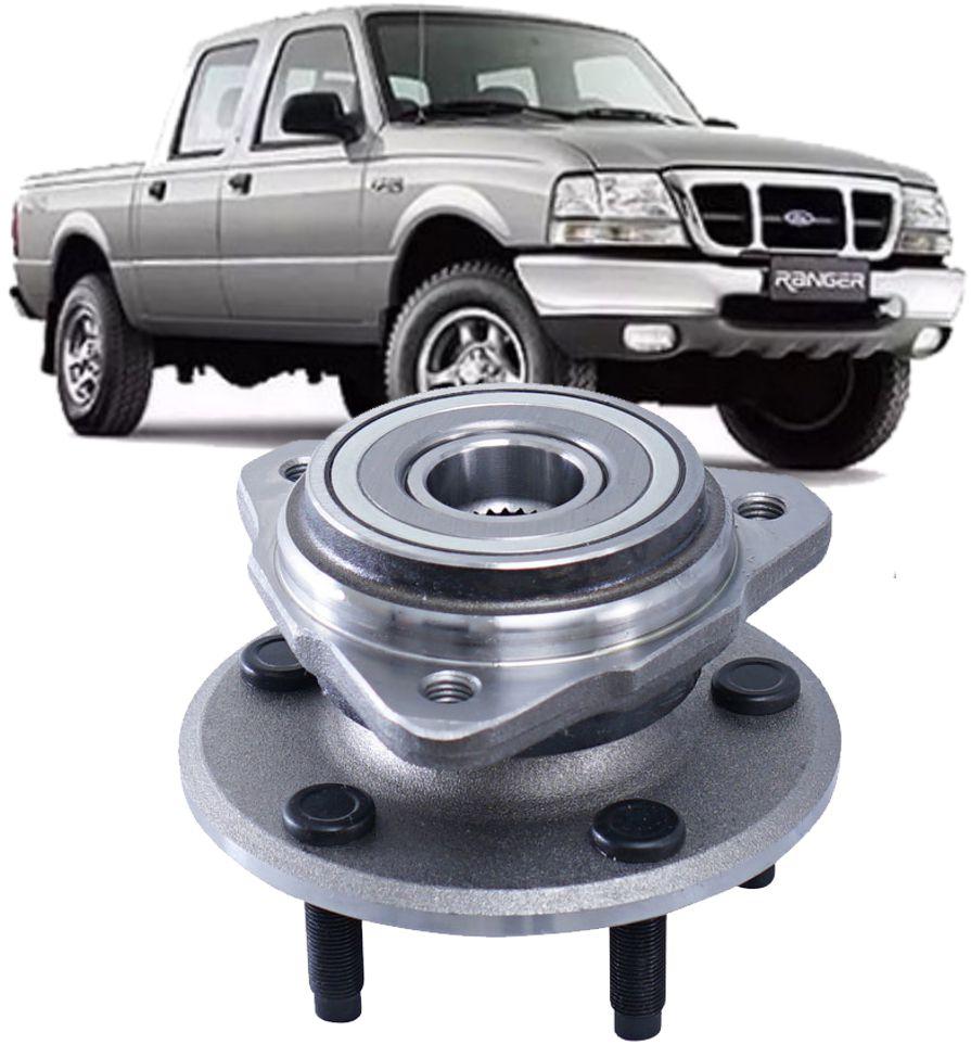 Cubo De Roda Dianteiro Com Rolamento Ranger 4x4 De 2001 à 2012 Sem Freio Abs