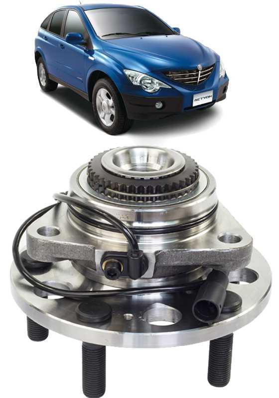 Cubo de Roda Dianteiro Com Rolamento Ssangyong Actyon e Kyron 4x4 Com ABS