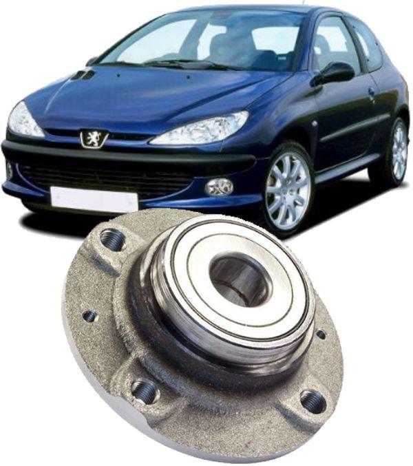 Cubo de Roda Traseiro Com Rolamento Peugeot 206 Sem freio ABS - Freio a dis