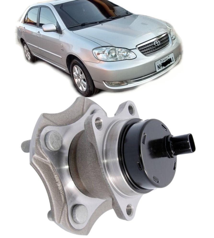 Cubo de Roda Traseiro Com Rolamento Toyota Corolla1.8 e 1.6 16V Fielder de 2003 a 2008 todos Com freio ABS