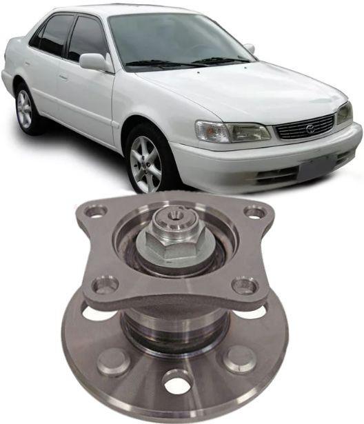 Cubo De Roda Traseiro com Rolamento Toyota Corolla de 1992/2002 S/ABS